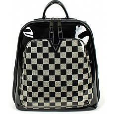 Рюкзак №8701 Чорний з сріблом