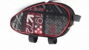 Сумка велосипедная на раму горизонтальная mod 2 черно-красная