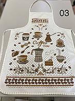 """Кухонний фартух з прогумованої непромокаючої основою """"N03"""" Туреччина"""