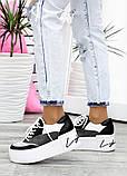 Кроссовки кожаные на высокой подошве 7618-28, фото 2
