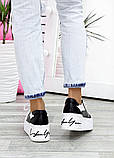 Кроссовки кожаные на высокой подошве 7618-28, фото 7
