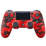 Джойстик геймпад Sony PS 4 DualShock 4 Wireless Controller Red Camouflage ( червоний камуфляж ) репліка, фото 2