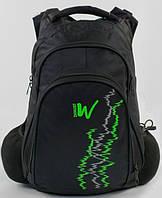 Рюкзак школьный для мальчиков 5,6,7 класс Портфель W для школы c USB Черный