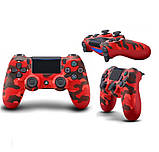 Джойстик геймпад Sony PS 4 DualShock 4 Wireless Controller Red Camouflage ( червоний камуфляж ) репліка, фото 6