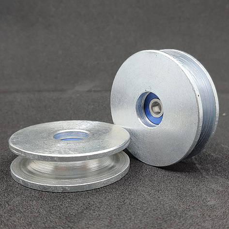 Ролик сталевий з підшипником 56 мм шків 10 мм, фото 2