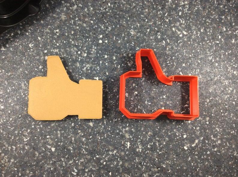 3Д Формочка Палец вверх маленький Вырубка Лайк палец Вырубка социальные кнопки