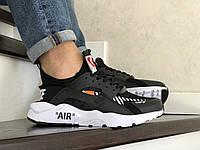 Кроссовки Nike Air Huarache черные с белым, Найк Хуараче