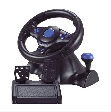 Джойстик ігровий кермо 3 В 1 Vibration Steering Wheel PS2/PS3/PC-USB з вібровіддачею Ігровий спортивний кермо