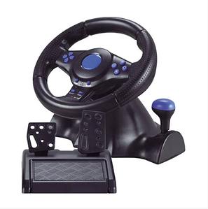 Джойстик руль игровой 3 В 1 Vibration Steering Wheel PS2/PS3/PC USB с виброотдачей Игровой спортивный руль