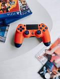 Джойстик Sony PS 4 DualShock 4 Wireless Controller, Безпровідний джойстик для PS4,DualShock 4 Orang (Репліка), фото 6