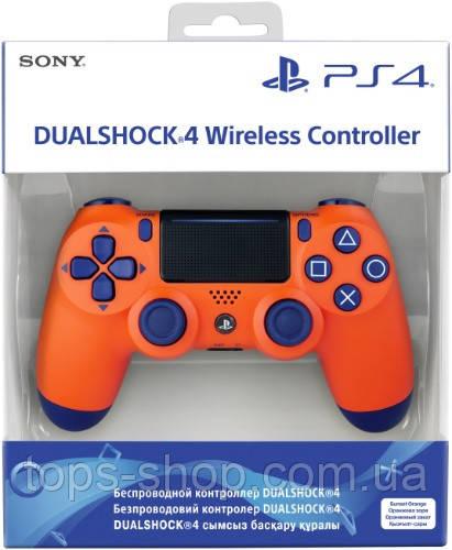 Джойстик Sony PS 4 DualShock 4 Wireless Controller, Безпровідний джойстик для PS4,DualShock 4 Orang (Репліка)