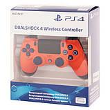 Джойстик Sony PS 4 DualShock 4 Wireless Controller, Безпровідний джойстик для PS4,DualShock 4 Orang (Репліка), фото 8