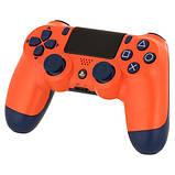 Джойстик Sony PS 4 DualShock 4 Wireless Controller, Безпровідний джойстик для PS4,DualShock 4 Orang (Репліка), фото 9