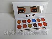 Тени Kylie 12 цветов + кисточка Палетка теней, фото 8