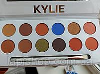 Тени Kylie 12 цветов + кисточка Палетка теней, фото 9