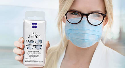 Zeiss Anti-fog. Набор от запотевания. Спрей + салфетка, фото 2