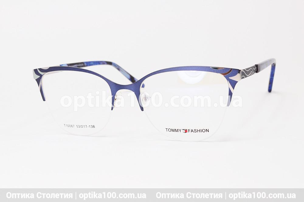 Оправа окулярів жіноча полуободковая темно-синя. Tommy Fashion 10067