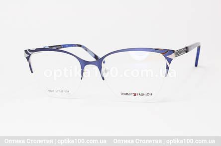 Оправа окулярів жіноча полуободковая темно-синя. Tommy Fashion 10067, фото 2
