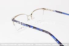 Оправа окулярів жіноча полуободковая темно-синя. Tommy Fashion 10067, фото 3