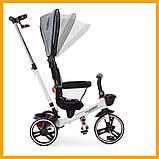 Детский трехколесный велосипед TURBO TRIKE М 5447PU-19 Серый лен Велосипед-коляска Турбо Трайк, фото 2