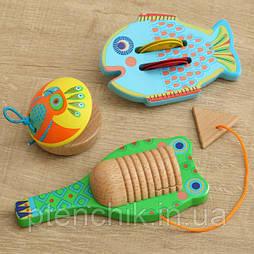 Набор музыкальных инструментов  Djeco (кастаньет, гуиро,цимбал)