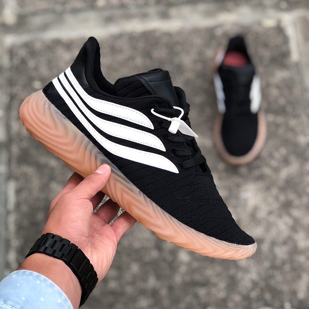 Мужские кроссовки Adidas Sobakov Black White Gum