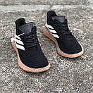Чоловічі Кросівки Adidas Sobakov Black White Gum, фото 5