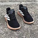 Мужские кроссовки Adidas Sobakov Black White Gum, фото 5