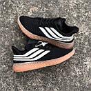 Мужские кроссовки Adidas Sobakov Black White Gum, фото 7