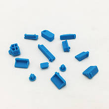 Заглушки от пыли для ноутбука силиконовые 13 шт Голубой