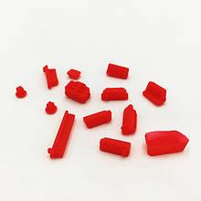 Заглушки от пыли для ноутбука силиконовые 13 шт Красный