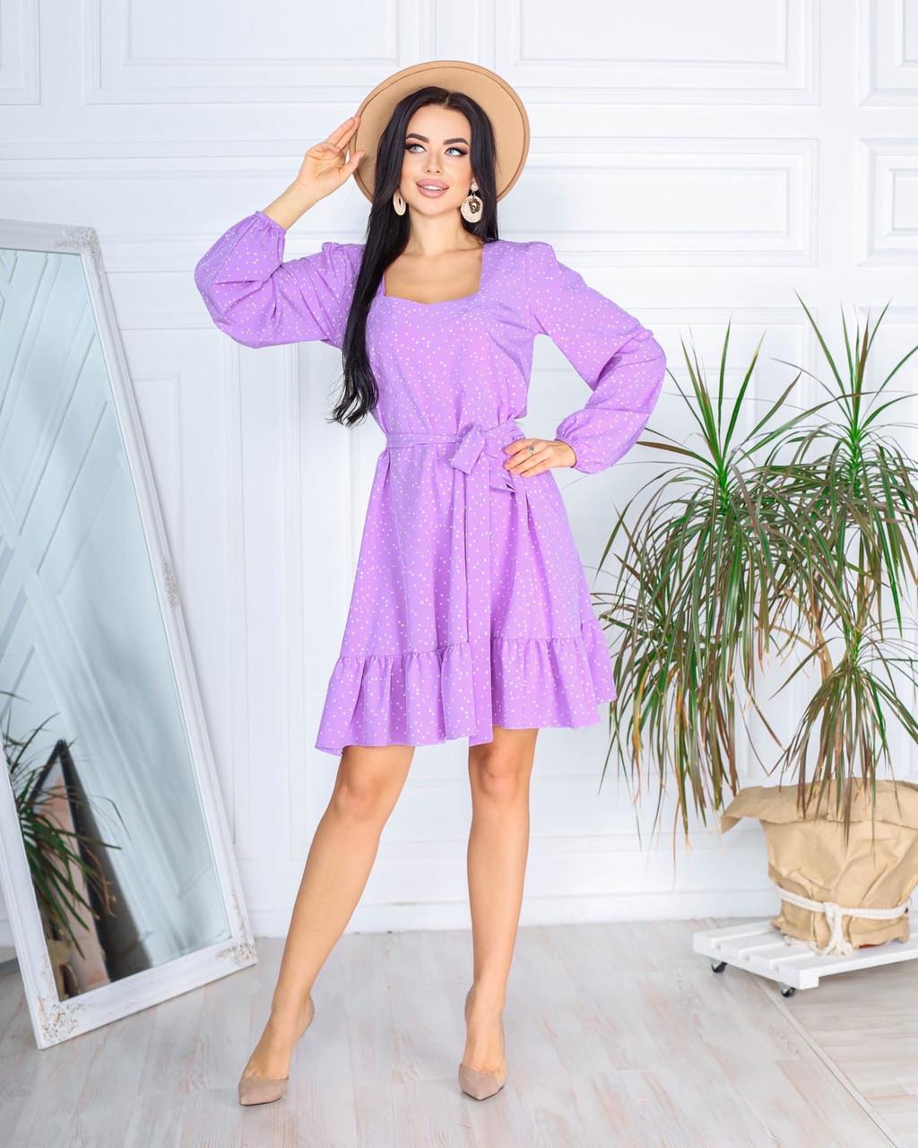 Стильна жіноча сукня весняне  розміри 42 44 46 48 Новинка 2021 забарвлення багато