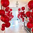 """Фольгований куля сфера 4D, червона 32""""/80 див., фото 2"""