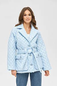 Модна стьобана куртка демісезонна з накладними кишенями 42,44,46,48,50 розмір
