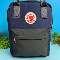 Портфель рюкзак с лисой канкен Fjallraven Kanken 16 л (синий)