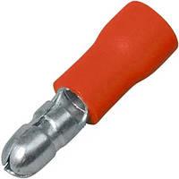 Клемма кабельная круглая (штекер) 0.5-1.5мм², Ø4мм, красная, 100шт