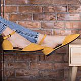 Туфлі жіночі 39 розмір 25 см Жовті, фото 3