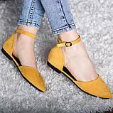 Туфлі жіночі 39 розмір 25 см Жовті, фото 5