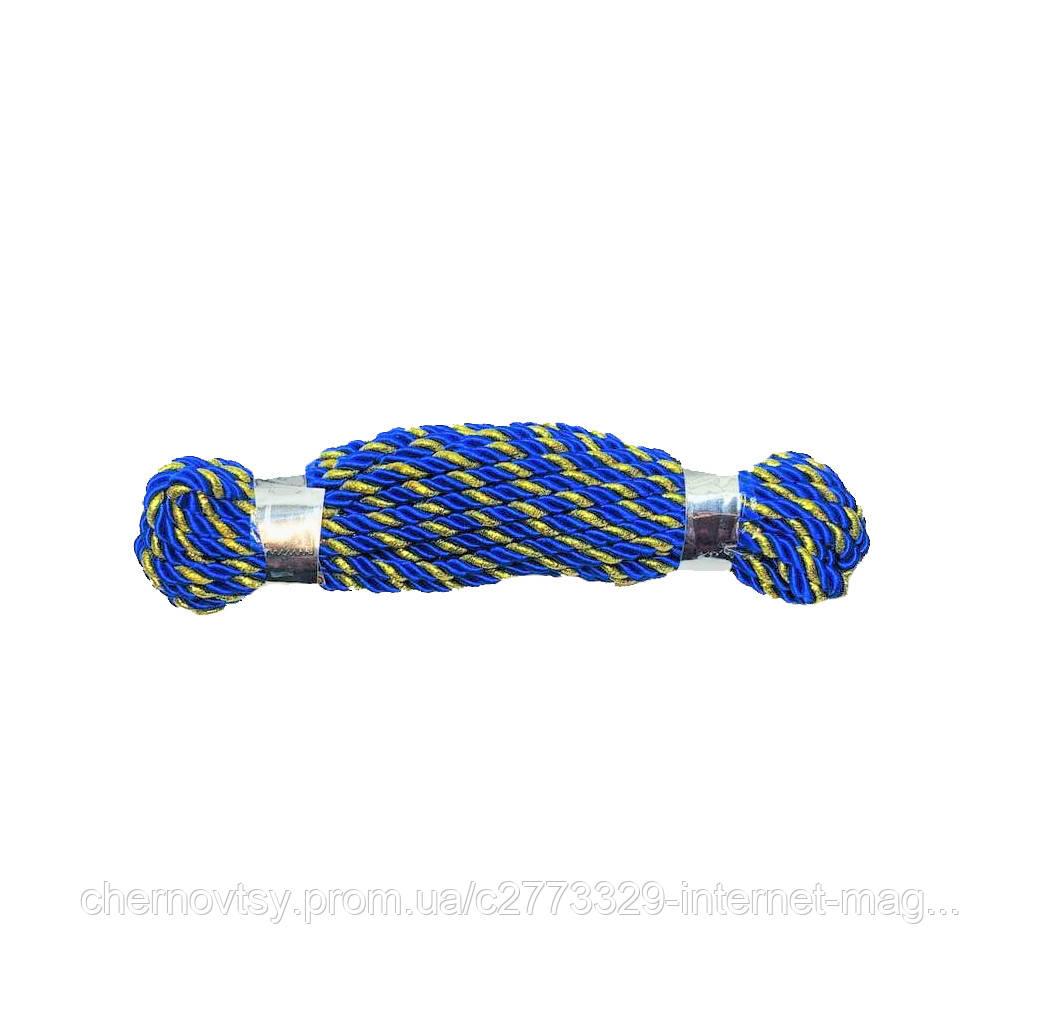 Шнур декоративный (Кант) 50 м, ширина 3 мм Золотисто-синий