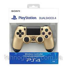 Джойстик Sony PS 4 DualShock 4 Wireless Controller, Безпровідний джойстик для PS4,DualShock 4 Золото (Репліка)