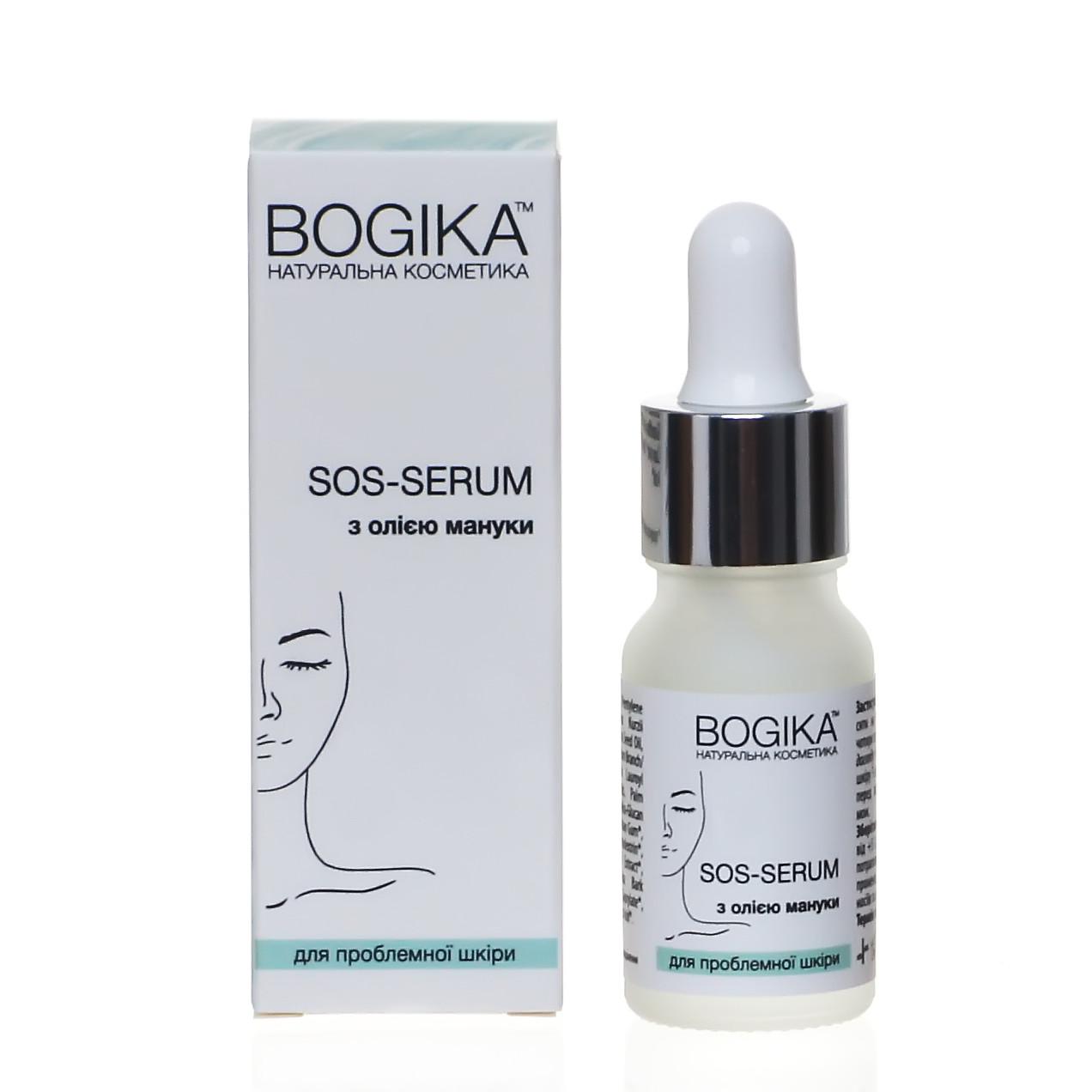 SOS-serum 10 мл для боротьби з висипаннями та жирністю, BOGIKA, сироватка для обличчя