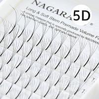 Пучковые ресницы Nagaraku 5 Д, С 0,07, длина 9 мм, фото 1