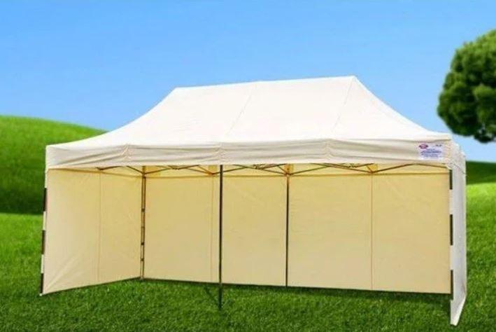 Бежевий розсувний намет 2х3 Вулична торгова палатка, Торгова палатка з щільним прогумованим тентом, фото 2