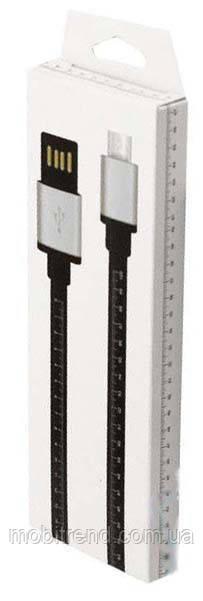 Кабель micro-USB лінійка 1m Чорний