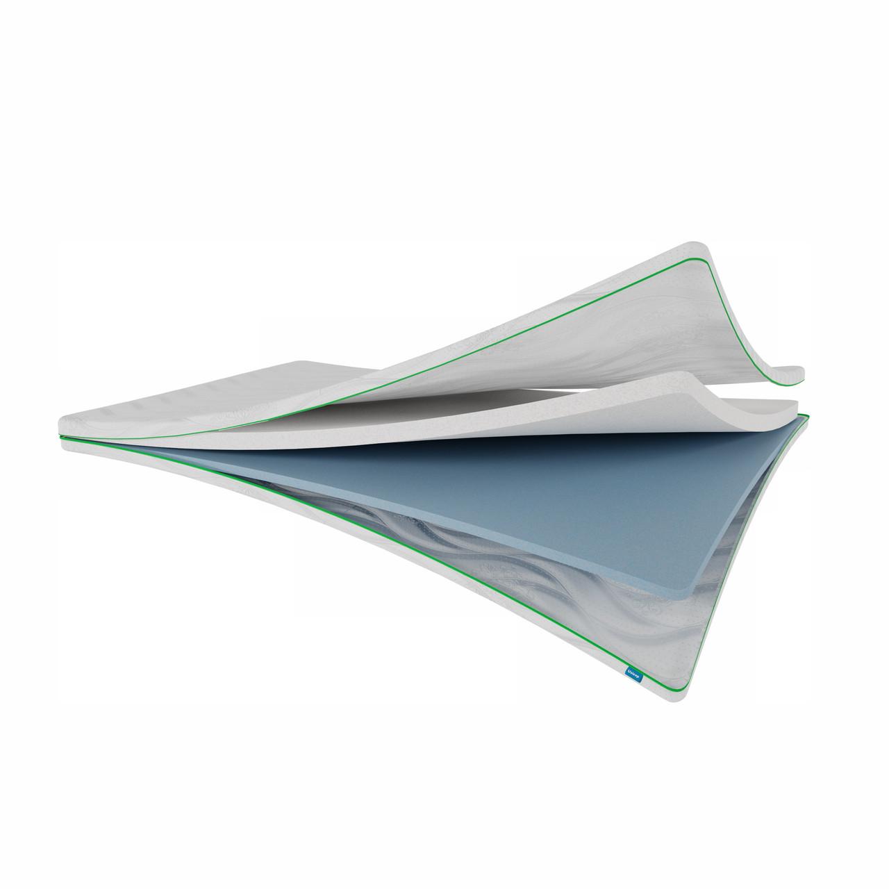 Тонкий матрац топпер-футон SleepRoll Green Usleep 160х200