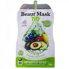 Антиоксидантная восстанавливающая маска для лица с соком TVO Avocado and Grapes