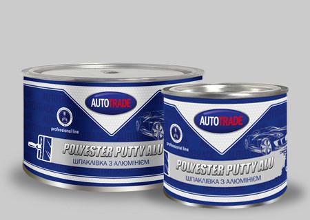 Шпатлевка алюминиевая 0,8кг с отвердителем Autotrade