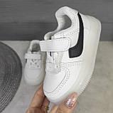 Детские белые кроссовки с подсветкой, фото 3
