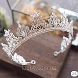 VIP Корона майже повного кола з Діамантами ювелірними (цирконій) (6см), фото 7