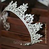 VIP Корона майже повного кола з Діамантами ювелірними (цирконій) (6см), фото 5